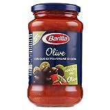 barilla sugo pronto di pomodoro 100% italiano con olive nere, olive verdi e olio extravergine d'oliva, 400g