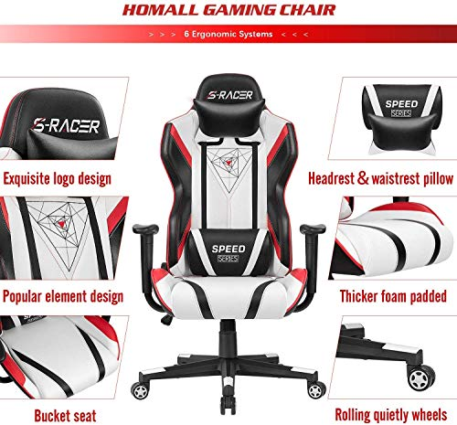 Homall Gaming Chair Racing Office...