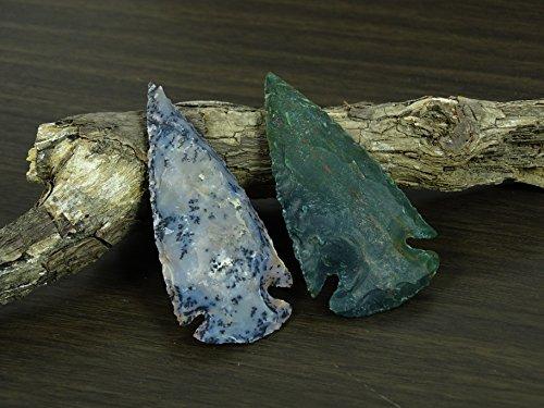Reikiera 5 x Artesanal de ágata de la India Piedra Spearhead 3 Pulgadas Arrowhead