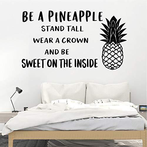 Etiqueta engomada de la piña americana papel pintado de vinilo impermeable habitación de los niños decoración del hogar arte mural etiqueta de la pared A9 L 43x76cm