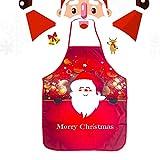 WELLXUNK® Delantal Navidad, Delantales Impresos, Delantal Cocina Adultos, Anime Chef Delantales, Delantal Navidad Cocina Regalo Ideal Navidad, Delantal Fiesta Festiva Decoraciones Navideñas (B)