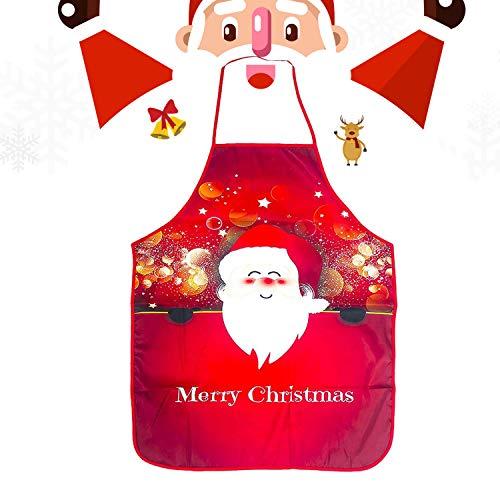 WELLXUNK® Delantal Navidad, Delantales Impresos, Delantal Cocina Adultos, Anime Chef Delantales, Delantal Navidad Cocina Regalo Ideal Navidad, Delantal Fiesta Festiva Decoraciones Navideñas (B