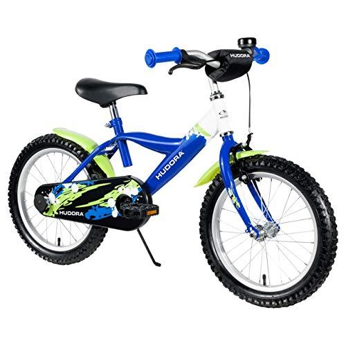 HUDORA Kinder-Fahrrad, blau, Fahrrad für Jungs, 16 Zoll, 10541