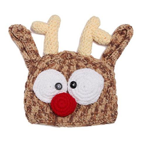 Bigood Chapeau Bébé Crochet Déguisement Photographie 0-24 Mois Cerf