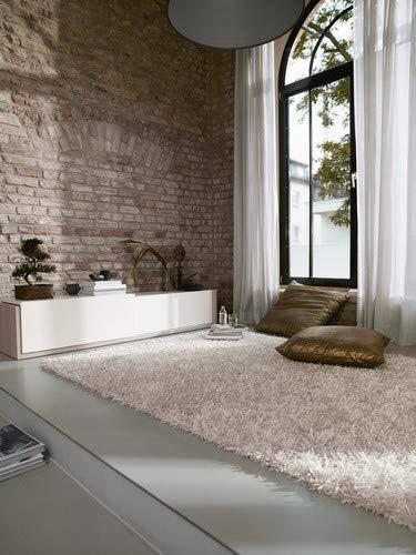 ESPRIT Cool Glamour Moderner Markenteppich, Polyester, Weiß, 200 x 140 x 5 cm
