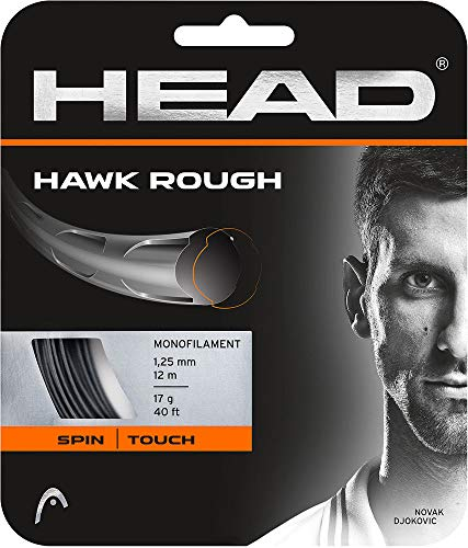 Head Hawk Rough Cordajes de Raquetas de Tenis, Adultos...