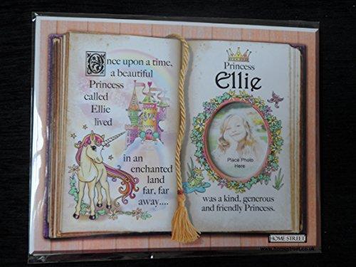 Ellie Princesse Licorne Monture avec poème spécial et cadre photo au choix