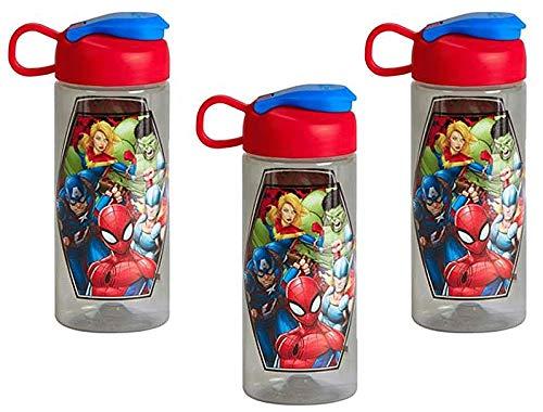 [3-Pack] Marvel Universe 16.5oz Kids Sullivan Sports Water Bottle, BPA-free,...