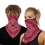 onehous Bandana Gesichtsmaske für Damen/Herren, Unisex Multifunktionstuch Outdoor Maske Schal...