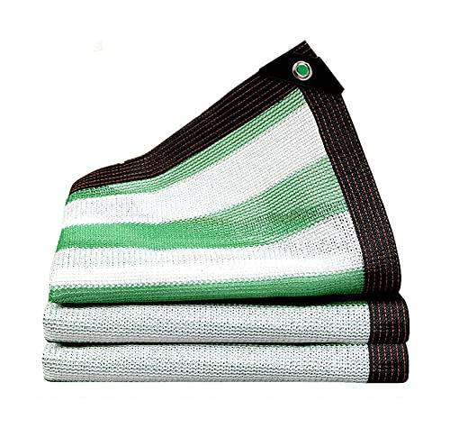 LLCY Tela de tela de color verde y blanco a rayas, para cubierta de plantas, invernadero, granero, tela de sombra para flores, plantas, patio o césped (color: verde/blanco, tamaño: 4 x 4 m)
