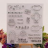 CLEARSTAMPSメリークリスマスDIYスクラップブックカードアルバムペーパークラフトシリコンゴムローラー透明スタンプA579