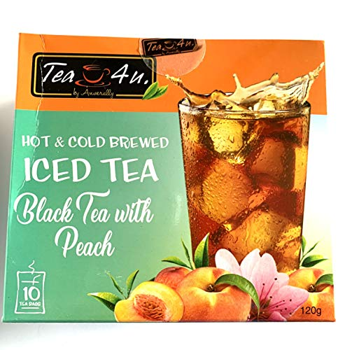 Tea4U Peach Black Iced Tea Bags - Hot & Cold Brewed