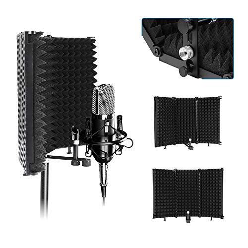 Microfono Filtro Antipop, Estudio Micrófono Viento Pop Protección Filtro, Cualquier Micrófono Reflector De Espuma, Utilizado En Estudios De Grabación Profesionales, Equipos De Grabación Domésticos