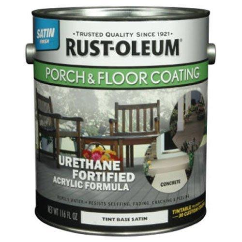 RUST-OLEUM 262363 Gallon Tint Base Satin Porch and Floor Urethane Finish Paint