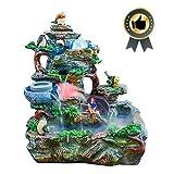 JINFAN Zimmerbrunnen Dekobunnen Tischbrunnen Tisch Brunnen Brunnen Harz Dekoration Wasserspiel Kreative Steingarten Brunnen Desktop Ornamente