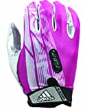 adidas Adizero 5-Star Football Receiver Gloves, X-Large, Pink/White/Silver