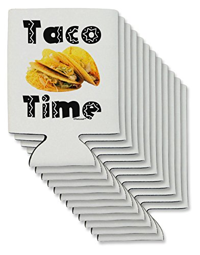 tooloud Taco Zeit–Mexican Food Design kann/Flasche Isolator Kühler 12 Pieces