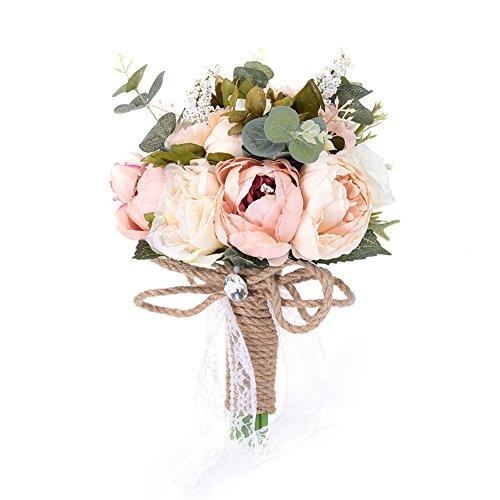 yunhigh flores artificiales de la boda ramo de la mano ramo de novia ramos de flores de seda ramo de la boda decoración
