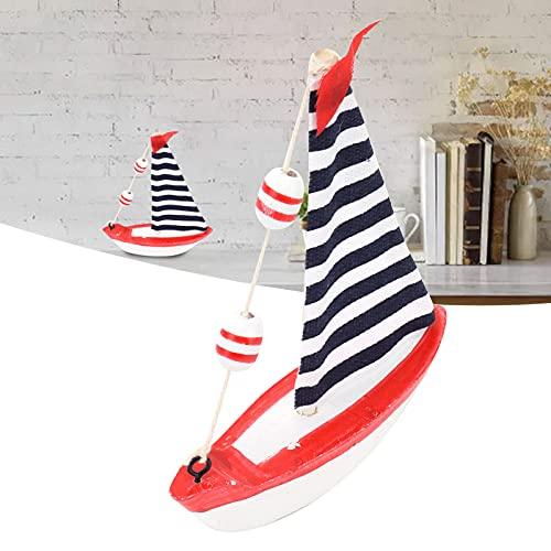 Velero de madera, modelo de velero de madera segura y compuesta para decoraciones de interior