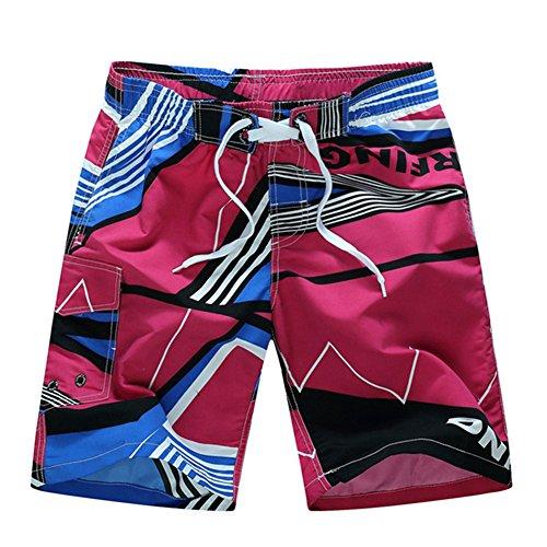 Shorts de Bain Homme Bermuda Séchage Rapide Pantalons Courts de Beach Respirant Maillot de Bain Imprimé Casual Pantacourt Gym Grande Taille Été Shorts Plage Sport Natation