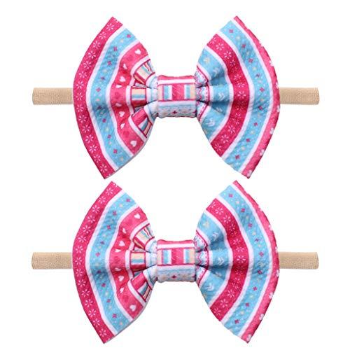 Lazzboy 2pc 4ins Baby Girls Easter Day Stirnbänder Kleinkind Kaninchen Haarband Zubehör Mädchen Neugeborenen Stirnband Weich Kopfband Kindergarten Mütze(B)