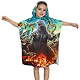 Danill23 God-Zilla Monsters Hooded Bath Towel for Kids Superfine Fiber Robe Perfect Beach Cover Up Towel Bathrobe Poncho with Hood