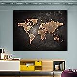 SDFSD 1 PCS/Set Pinturas de Mapa del Mundo Negro Enorme Imprimir en Lienzo Mapa del Mundo Abstracto Lienzo Imágenes de la Oficina en la decoración de la Pared para el hogar 60 * 100 cm