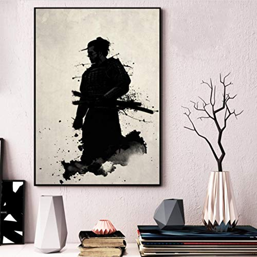lubenwei Armored Samurai Japan Anime Canvas Painting Posters And Prints Pictures On The Wall Classic Decoration Home Decor 40x50cm No frame AW-524
