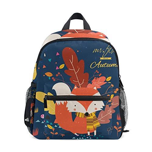 Bolsa de escuela de otoño de dibujos animados Fox Marple hoja preescolar mochilas niños viaje mochila para niños niñas