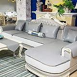 BJYG Funda para sofá de Cuero sintético, Impermeable, Antideslizante, seccional para sofá, Funda Protectora para Muebles para Mascotas, Resistente a Las Manchas, para sofá de Varios tamaños, Gris