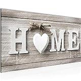 Bilder Home Herz Wandbild Vlies - Leinwand Bild XXL Format Wandbilder Wohnzimmer Wohnung Deko...