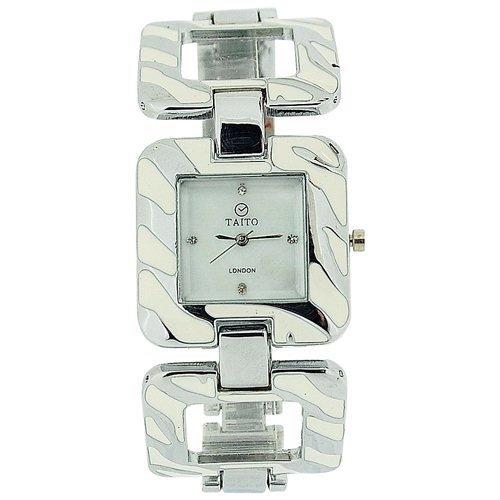 Taito London TLC1PNP/Cream - Reloj para Mujeres, Correa de Metal Multicolor
