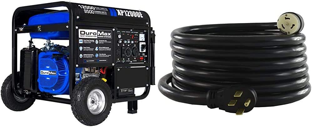 DuroMax Dealing full price reduction New XP12000E Generator Blue 50 1450SS2-15 Max 84% OFF Conntek Amp
