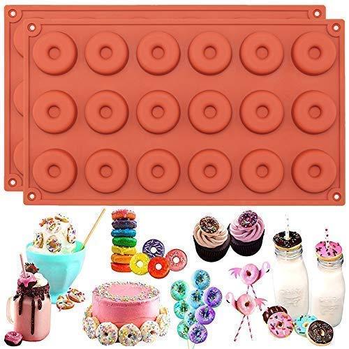 Musykrafties Donut Moule en silicone 2 en Lot, Silicone, Mini
