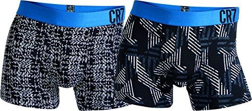 CR7 Cristiano Ronaldo Fashion Boxershorts Microfaser Herren 2-Pack (CR7-8502-4900-402-S)