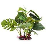 Rtengtunn Planta Verde Artificial del Ornamento para el plástico de la decoración del Ornamento del Acuario del Tanque de Pescados