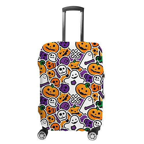 Ruchen Koffer-Abdeckung, Halloween-Muster, niedliche Dekoration, Koffer-Schutz, passend für mehrere Gepäckgrößen