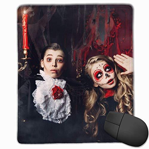 Mauspad Halloween Zwei Kinder Karnevalskostüme Scare Smooth Comfortable Gaming Mauspad mit rutschfester Gummibasis