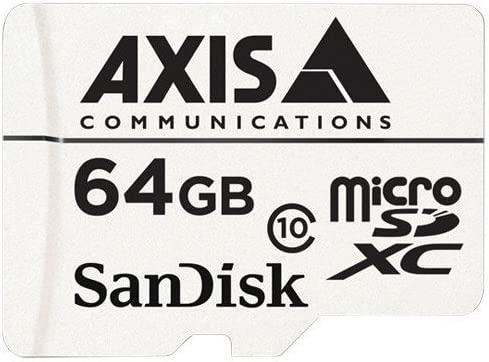 Axis 5801-951 Surveillance Flash Memory Card 64 GB MicroSDXC, White