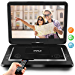 """Pyle 17.9"""" Portable DVD Player, With 15.6 Inch Swivel Adjustable Display Screen, USB/SD Card Memory Readers, Long Lasting Built-in Rechargeable Battery, Stereo Sound  with Remote. (PDV156BK)"""