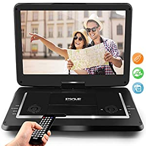 Portable DVD Player, Portable CD Player, Travel DVD Player, Car DVD Player, Portable Battery, USB/SD, Headphone Jack, Includes Wireless Remote Control, Car Charger, Travel Bag, Black (PDV71BK)
