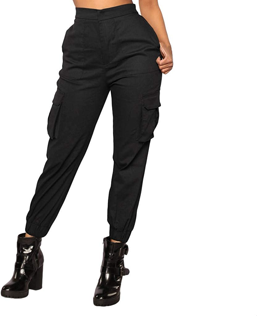 Clearance Womens Trousers - Casual Waist Sports Mid Har Elastic Max 71% Fixed price for sale OFF