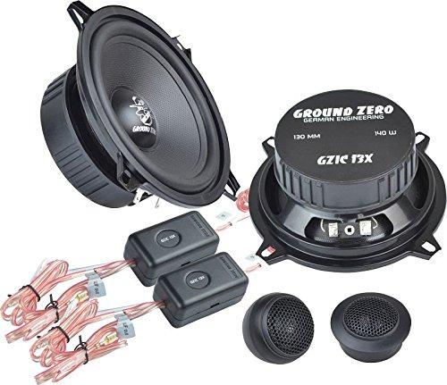 Ground Zero Iridium GZIC 13X Auto Lautsprecher Kompo-System 280 Watt für BMW 3er E36 01/91-04/98 Einbauort vorne :Fußraum vorne/hinten : -