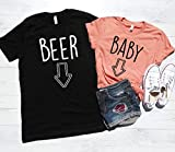 Deloach Couture Pregnancy Announcement Shirts, Baby Belly Shirt, Beer Belly Shirt, Funny Baby Beer Set, Pregnancy Reveal Shirts, Matching Shirts, His & Hers, Mommy and Daddy to be shirts