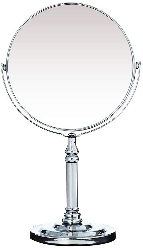 NAYSAYE 6 Inch Tabletop Vanity Mirror with 3X Round Magnification Two Sided Swivel 11 Inch Height Magnifying Makeup Mirror: Kitchen & Dining