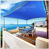 ColourTree 12' x 16' Blue Rectangle Sun Shade Sail Canopy Awning Shelter Fabric Cloth Screen - UV Block UV...