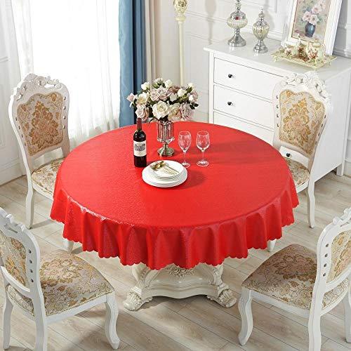 XQSSB Mantel Mesa Rectangular Decorativo Grueso Duradero Impermeable Manteles Cocina Rojo 260cm Diab Color Redondo