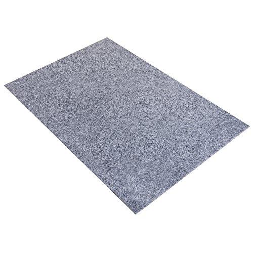 Rayher 5311925 Textilfilz, 30x45x0,4cm, grau