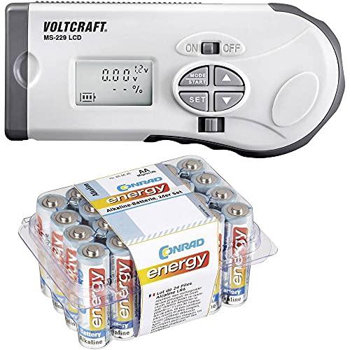 VOLTCRAFT Batterietester MS-229 Messbereich (Batterietester) 1,2 V, 1,5 V, 3 V, 9 V, 12 V Akku, Batterie MS-229