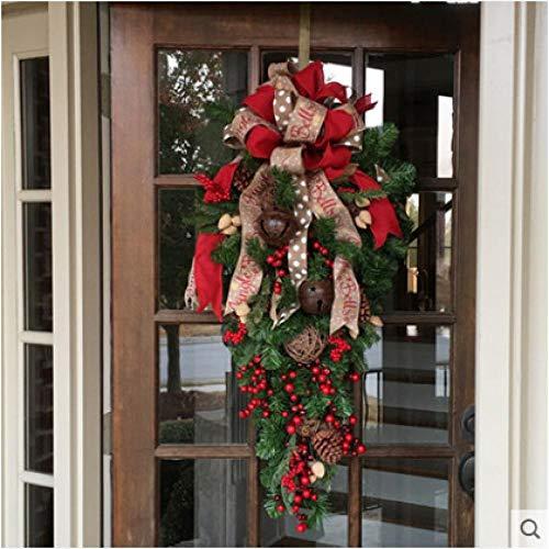 Amerikanische handgemachte Weihnachtsdekorationen, kreative Weihnachtsrattangirlande, 90cm Hotelmall umgedrehter Baumplan